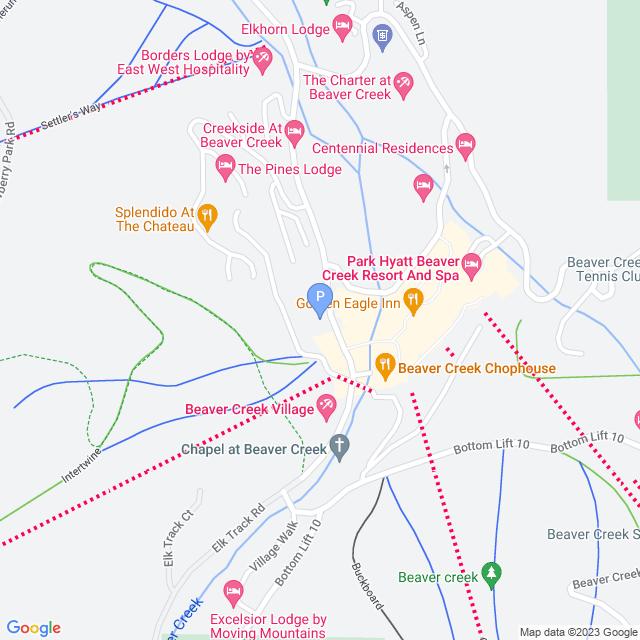 Property Map for 1280 Village Road, Beaver Creek, Colorado 81620