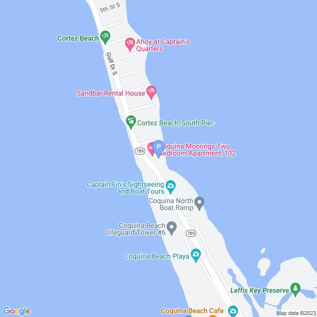 Property Map for 1407 Gulf Drive South, Bradenton Beach, FL 34217