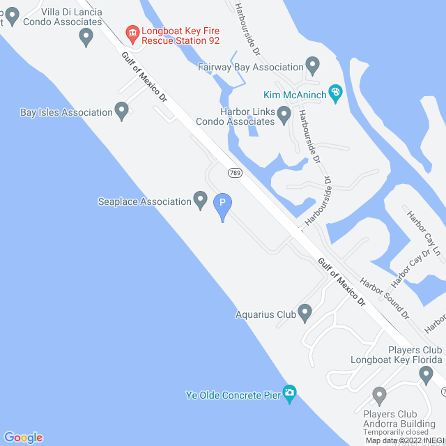 Property Map for 1975 Gulf of Mexico Drive 404 G-4 , Longboat Key, FL 34228
