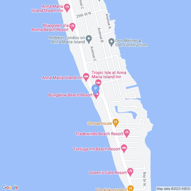 Property Map for 2106 Gulf Drive, Bradenton Beach, Florida 34217