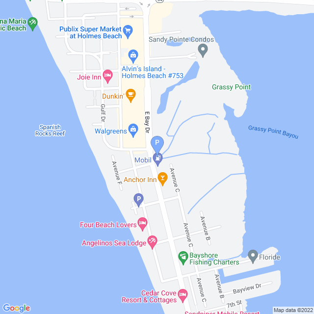 Property Map for 2106 Gulf Drive-TA NOT WORKING W/US, Anna Maria, Florida 34217