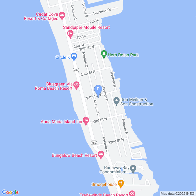 Property Map for 2319 Avenue C Unit #200, Bradenton Beach, Florida 34217