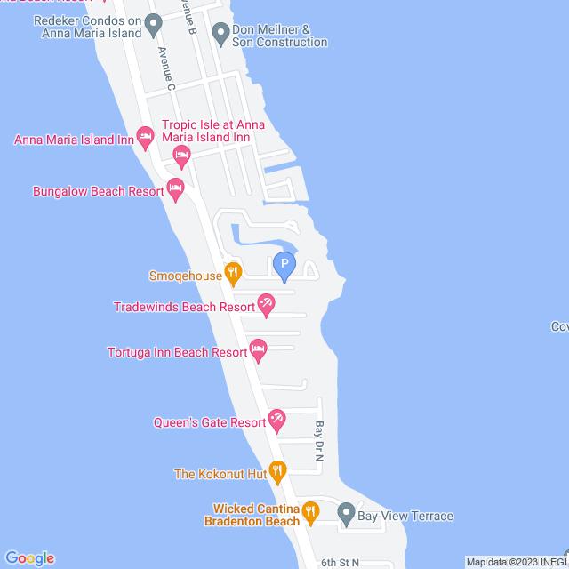 Property Map for 242 17th Street, Bradenton Beach, FL 34217