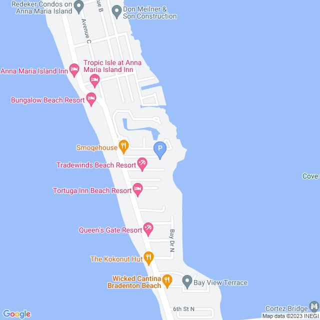 Property Map for 251 17th Street, Bradenton Beach, FL 34217