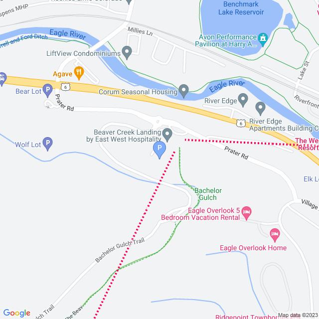 Property Map for 300 Prater Lane, Avon, Colorado 81620