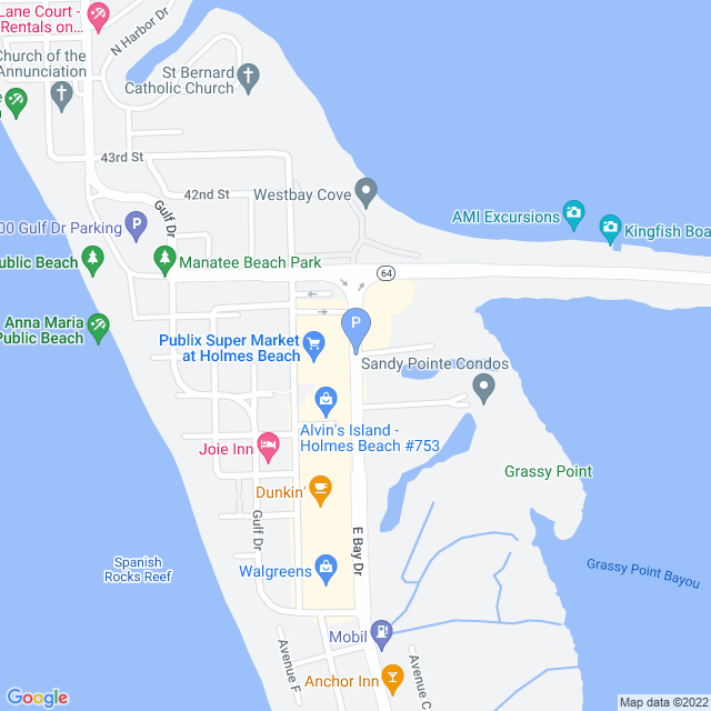 Property Map for 3803 East Bay Drive, Anna Maria, FL 34216