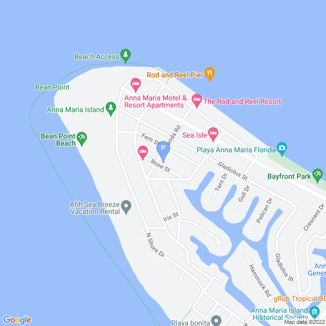 Property Map for 620 Rose Street, Anna Maria, FL 34216