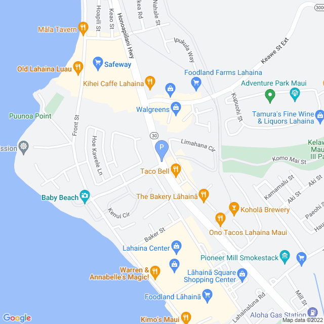 Property Map for Honoapiilani Hwy, Lahaina, Hawaii 96761