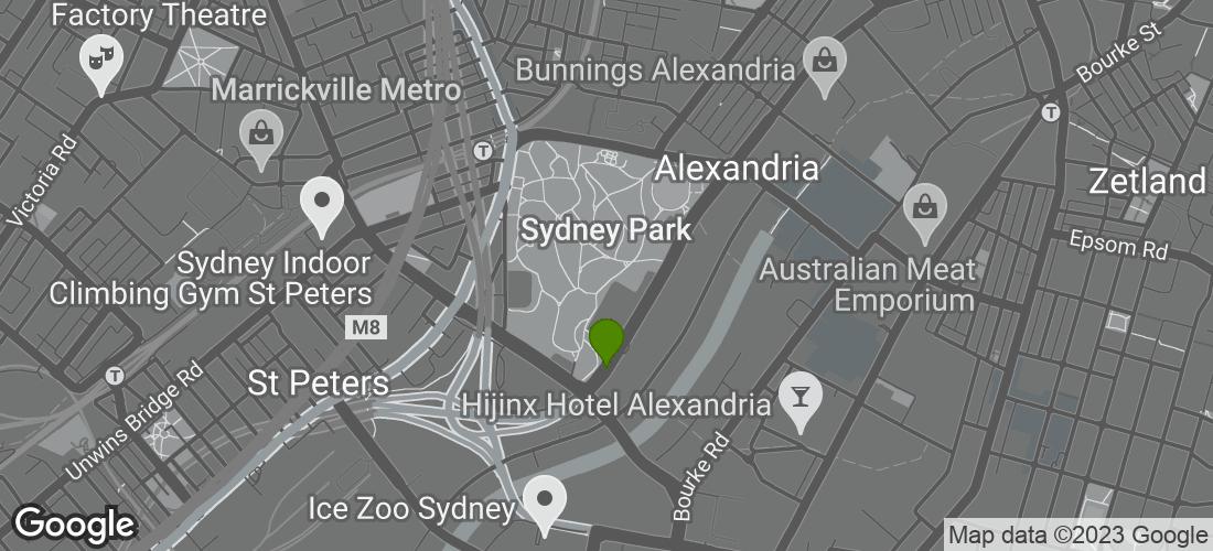 Google Map of Sydney Park, Sydney Park Road, Saint Peters, Sydney NSW Australia