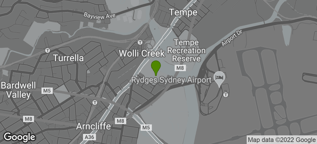 Google Map of Cahill Park, Near Levey Street, Wolli Creek, Sydney NSW Australia