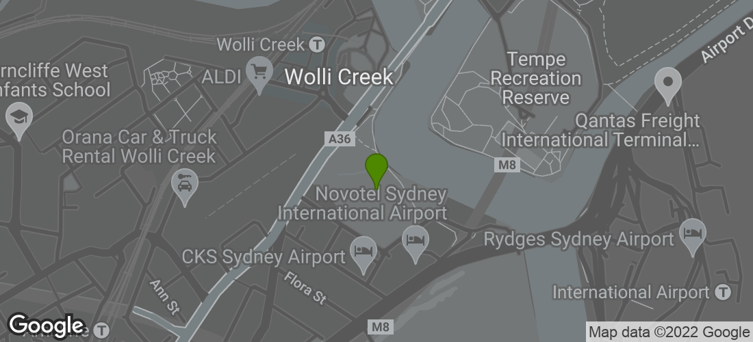 Google Map of Rowers on Cooks River, Cahill Park, Sydney NSW Australia