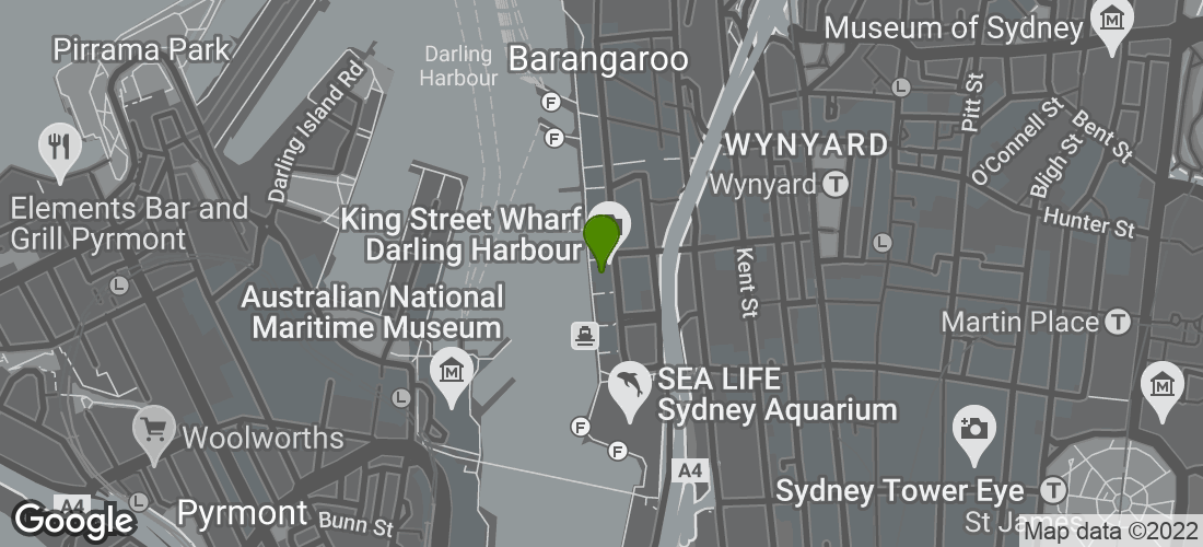Google Map of King Street Brewhouse, The Promenade, Sydney NSW Australia