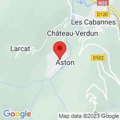 Carte / Plan Aston (Ariège)