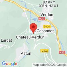 Carte / Plan Châteaux de Château-Verdun et de Gudanes