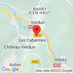 Carte / Plan Les Cabannes (Ariège)