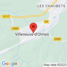 Carte / Plan Villeneuve-d'Olmes