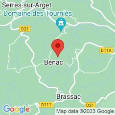 Carte / Plan Bénac (Ariège)