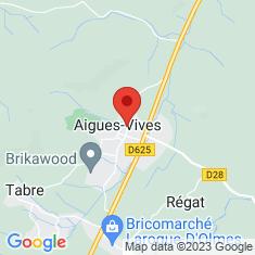 Carte / Plan Aigues-Vives (Ariège)