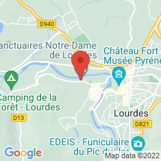Carte / Plan Sanctuaires de Lourdes