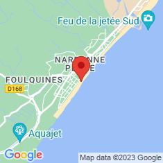 Carte / Plan Narbonne-Plage