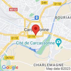 Carte / Plan Cathédrale Saint-Michel de Carcassonne