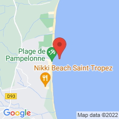 Carte / Plan Pampelonne (plage)