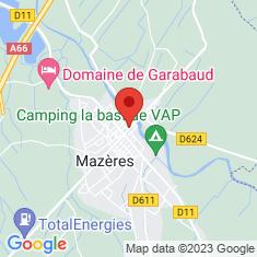 Carte / Plan Mazères (Ariège)