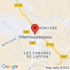 Carte / Plan Villemoustaussou