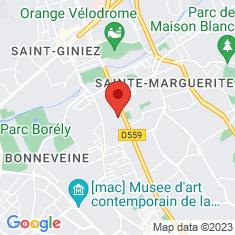 Carte / Plan Cité radieuse de Marseille