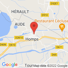 Carte / Plan Homps (Aude)