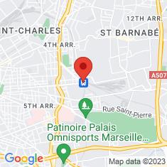 Carte / Plan Gare de Marseille-Blancarde