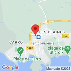 Carte / Plan Gare de La Couronne-Carro