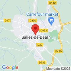 Carte / Plan Salies-de-Béarn