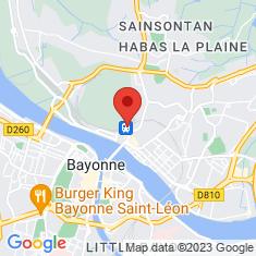 Carte / Plan Gare de Bayonne