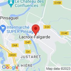 Carte / Plan Lacroix-Falgarde