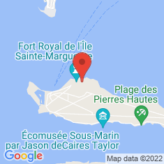 Carte / Plan Île Sainte-Marguerite
