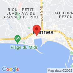 Carte / Plan Kiosque à musique de Cannes