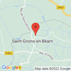 Carte / Plan Saint-Girons-en-Béarn