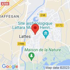 Carte / Plan Église Saint-Laurent de Lattes