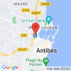 Carte / Plan Gare d'Antibes