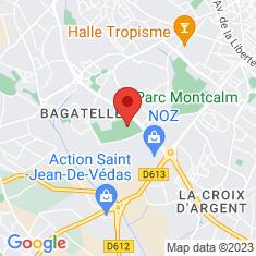 Carte / Plan Stade Yves-du-Manoir (Montpellier)