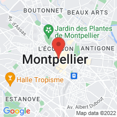 Carte / Plan Église Saint-Roch de Montpellier