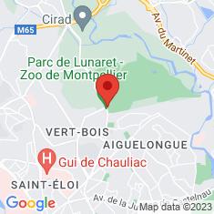 Carte / Plan Parc zoologique de Lunaret