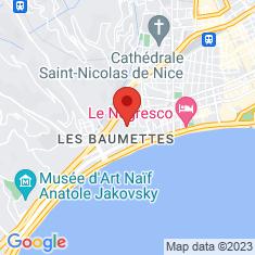 Carte / Plan Musée des beaux-arts de Nice
