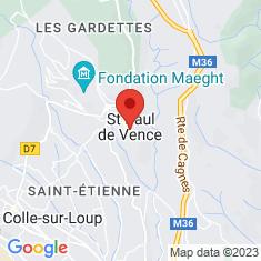 Carte / Plan Fontaine de Saint-Paul-de-Vence