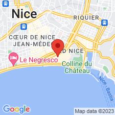 Carte / Plan Caserne Rusca (Nice)