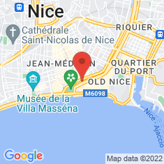 Carte / Plan Casino municipal de Nice