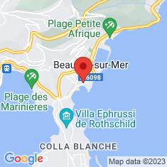 Carte / Plan Hôtel Bristol (Beaulieu-sur-Mer)