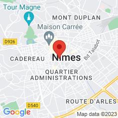 Carte / Plan Arènes de Nîmes