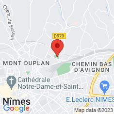Carte / Plan Stade Jean-Bouin (Nîmes)